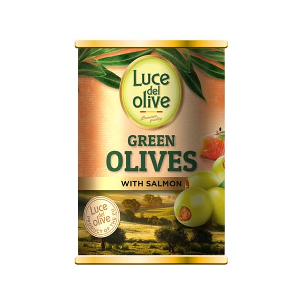5425032882410 Olīves zaļas ar lasi Luce del Olive 300ml KG 0.3