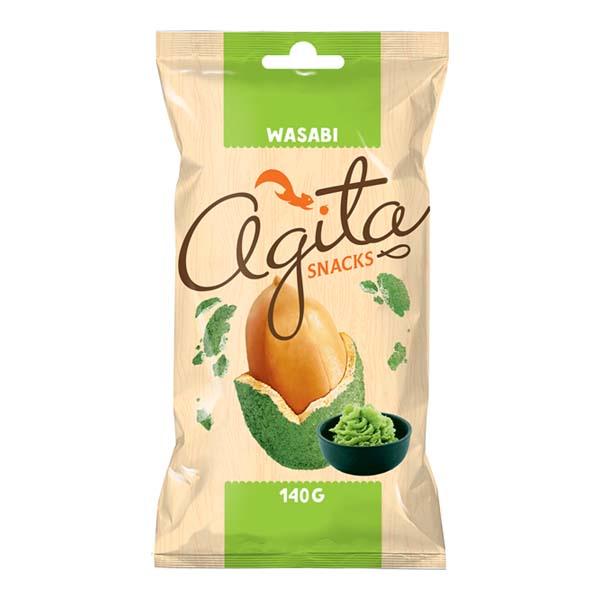 5425032883714 Zemesrieksti AGITA snacks ar vasabi 140g KG 0.140
