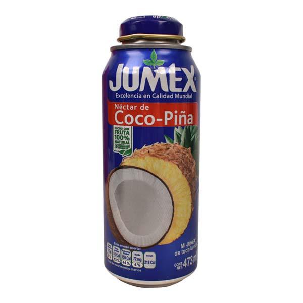 7501013101362 Sulas dzēr. JUMEX Kokosa Ananāsu 25% 0.473L can L 0.473