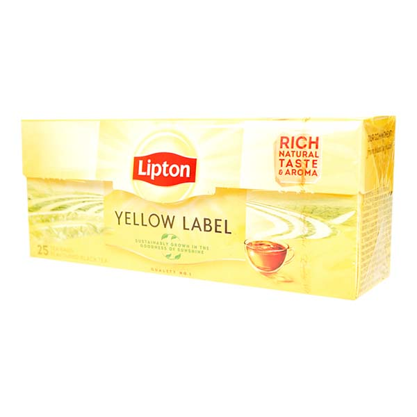 8717163825976 Tēja LIPTON YELLOW LABEL 25*2g KG 0.050